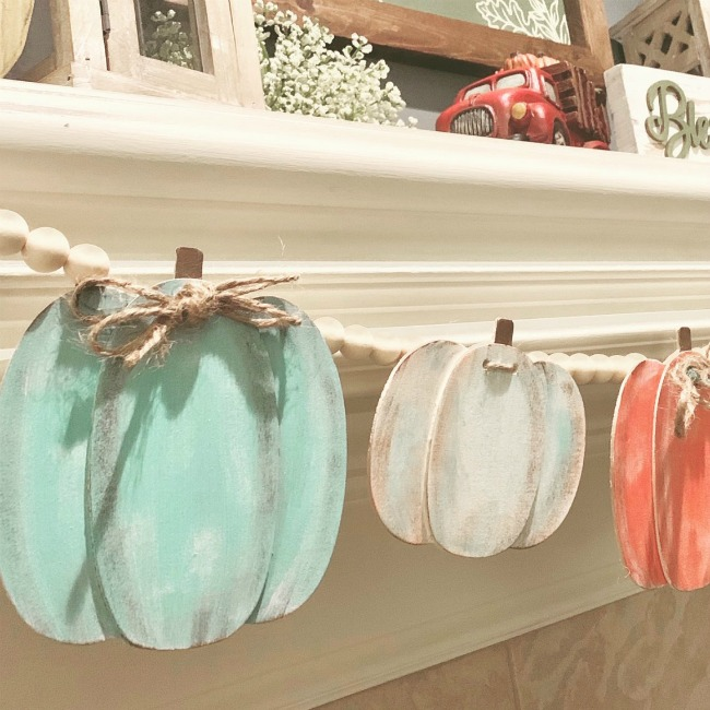 Painted Pumpkin Garland