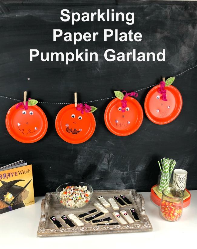 Paper Plate Pumpkin Garland