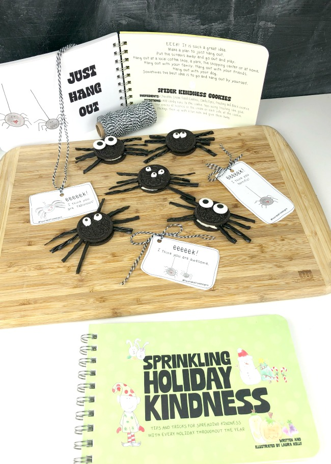 Sprinkling Holiday Kindness Book and Spider Cookies