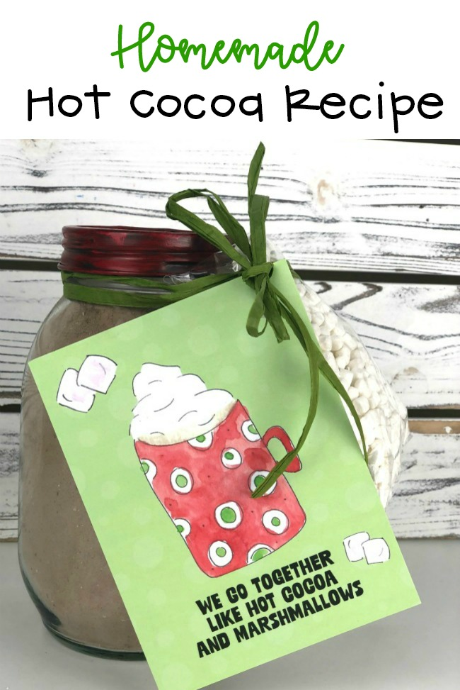 Homemade Hot Cocoa Recipe and Free Printable