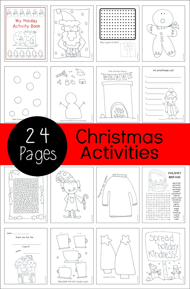 Holiday Activity Book Printable Collection Laura Kelly Designs