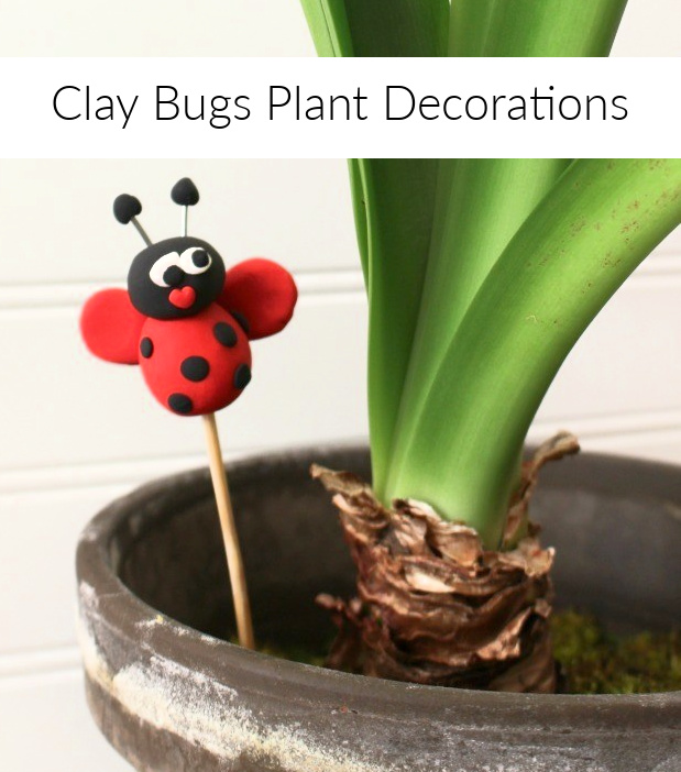 Clay Bugs Plant Decorations