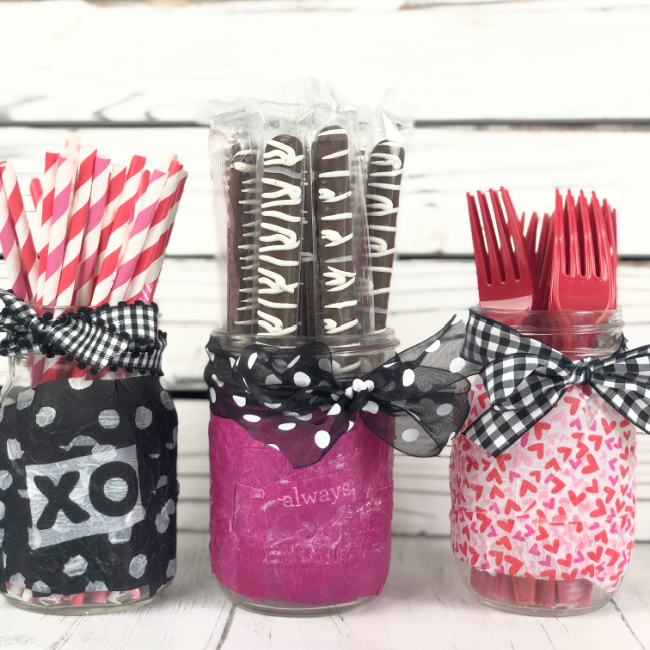 Decoupage Jars with Napkins