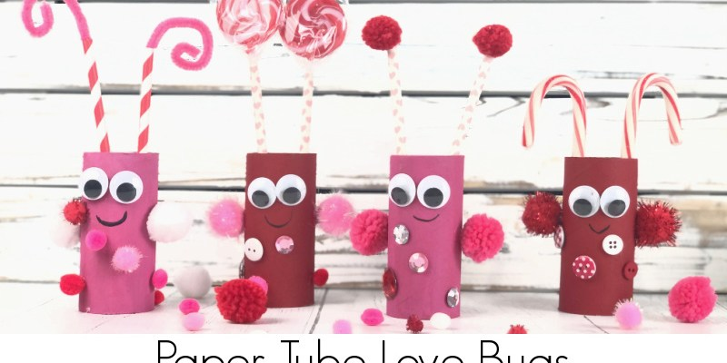 Paper Tube Love Bugs Valentine Kid Craft Project