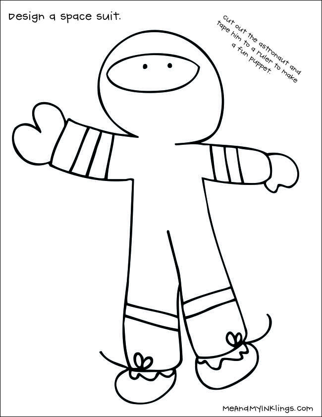 Design a Space Suit Free Printable