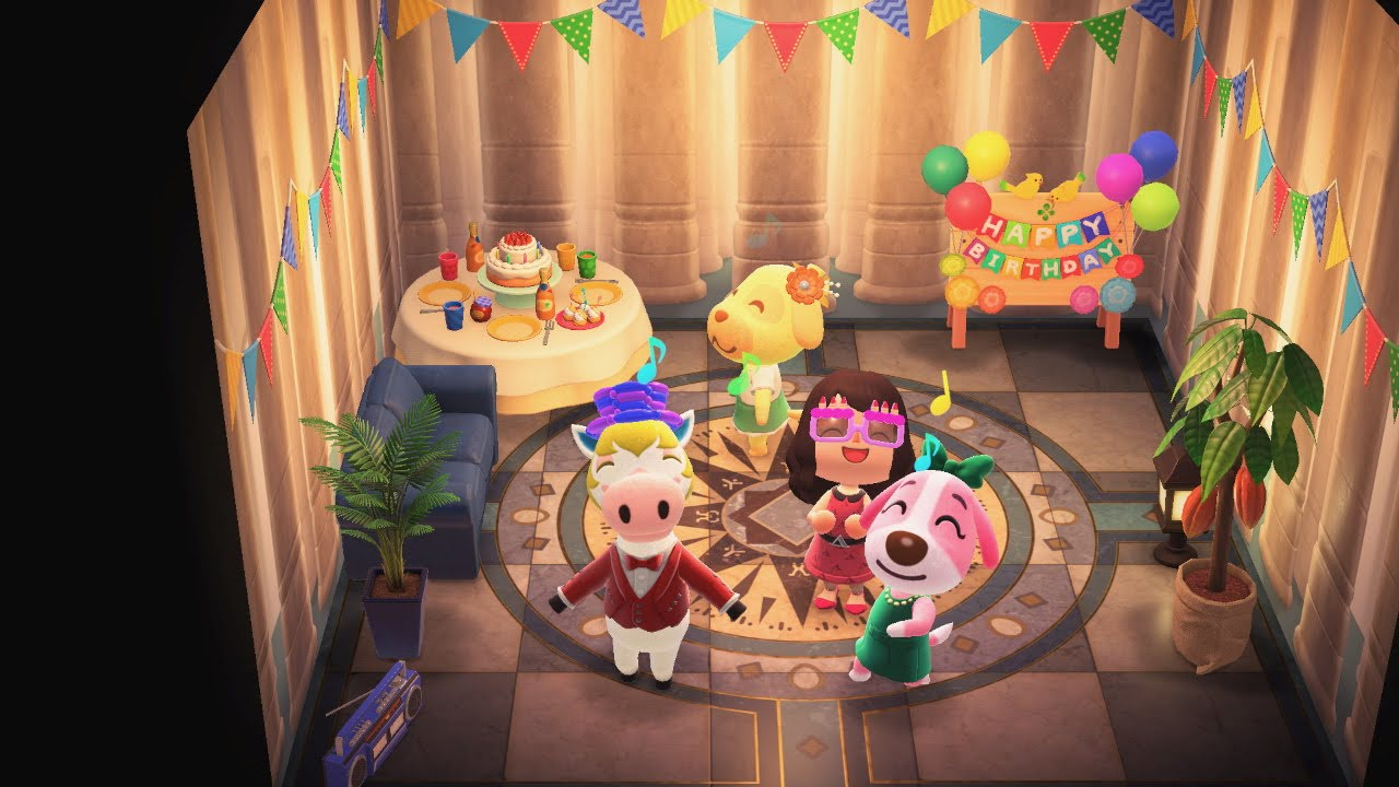 A birthday party with dancing and a birthday cake