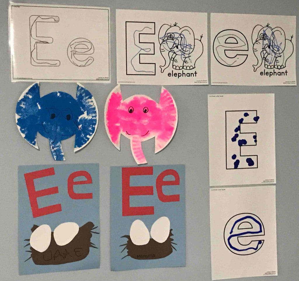Learning The Letters E And F