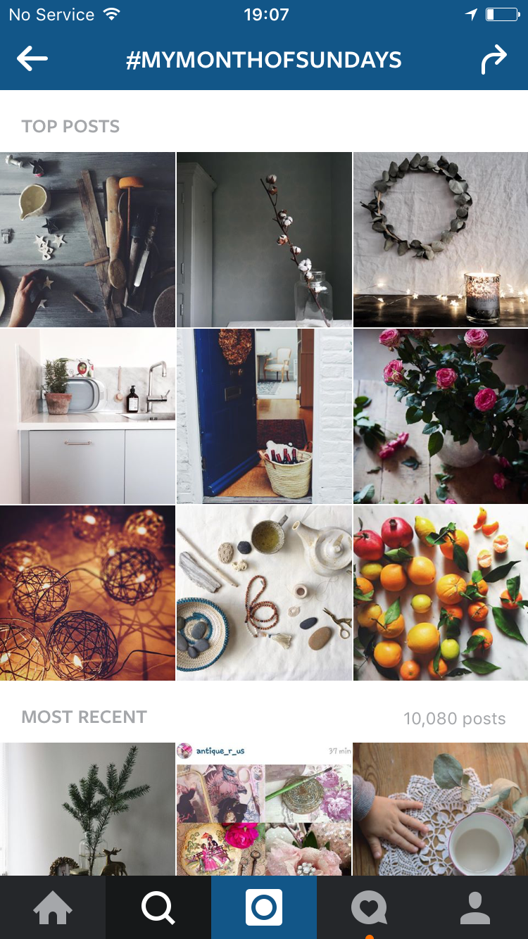 Top posts for #mymonthofsundays yesterday
