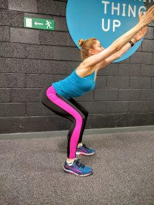 Overhead Squat - over arched back
