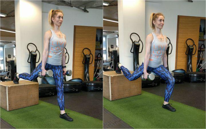 elevated split squat