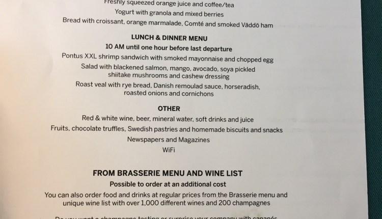 Pontus in the Air menu