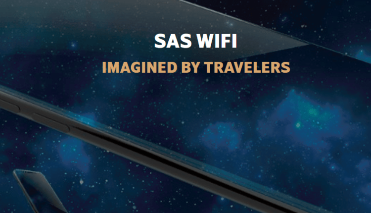 SAS WIFI in-flight onboard