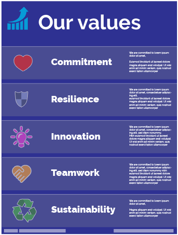 What are your organisation's values?