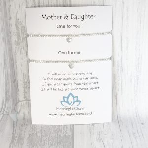 Mother & Daughter Bracelet Set, Stacking Bracelets, Long Distance Gifts, Mothers Day