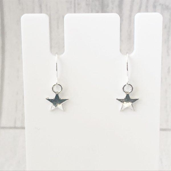 Small Star Earrings Silver