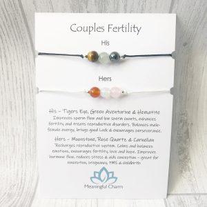 Couples Fertility Bracelet Set His & Hers
