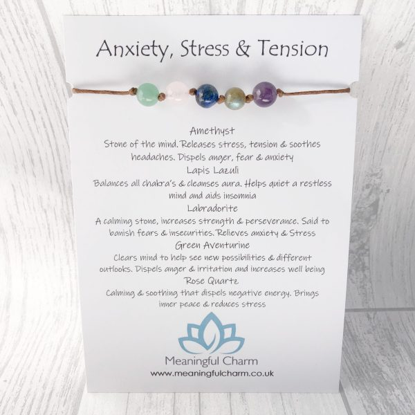 Anxiety Bracelet, Stress Bracelet, Gemstone Jewellery