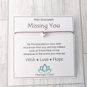 Missing You Wish Bracelet Distance Gift