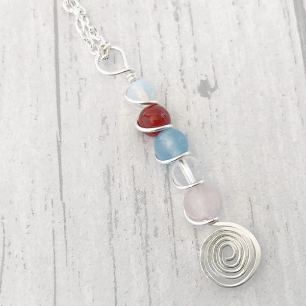 Fertility Necklace, Wire Wrapped natural gemstones, IVF, Pregnancy Aid, Fertility Jewellery