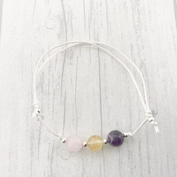 Fibromyalgia Bracelet, Cord, Fibro, Invisible Illness, Crystal Healing
