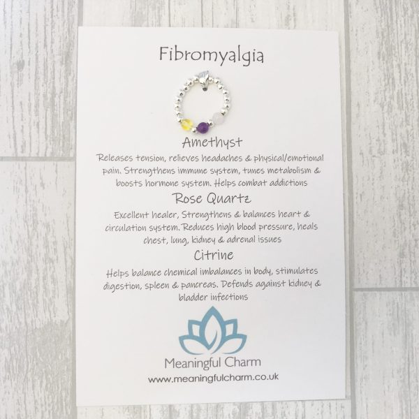 Fibromyalgia Ring, Stretch Ring, Crystal Healing, Fibro Jewellery
