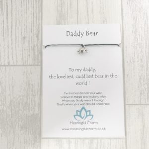 Daddy Bear Wish Bracelet Gift, Daddy Gifts, Fathers Day