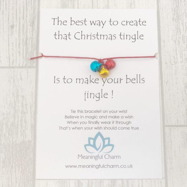 Christmas Wish Bracelet Gift, Stocking Fillers, Xmas Wish, Christmas Spirit, Jingle Bells