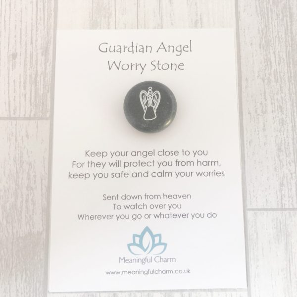 Guardian Angel Worry Stone, Worry Stones, Support Gift, Mental Health