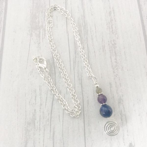 Anxiety Spiral Necklace, Anxiety Necklace, Stress Necklace, Anxiety Gifts, Mental Health Gifts, Crystal Healing