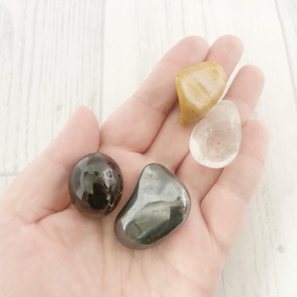 Cleaning Crystal Set, Grounding Tumble Stones, Anxiety Gifts, Mental Health Gifts, Crystal Healing, Negative Energy Release