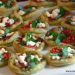 Pesto and Goat Cheese Tartlets