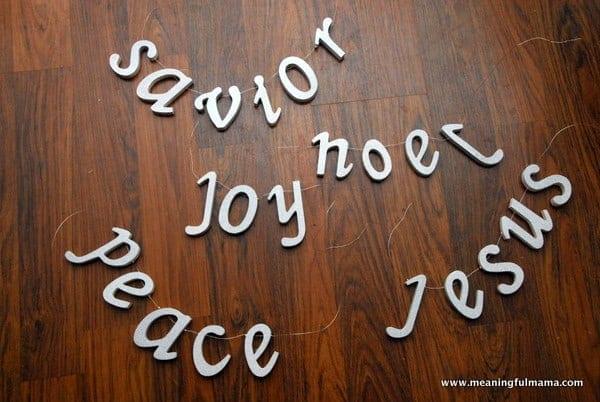 DIY Christmas Tree Word Decorations
