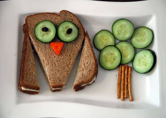 Fun with Food Cucumber sandwich face