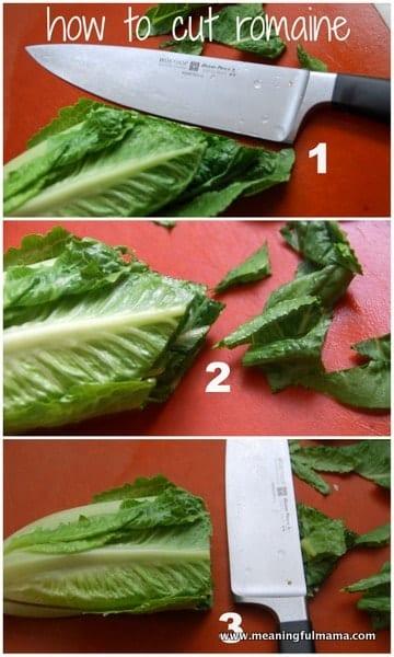 1-#lettuce #cutting #caesar #salad #romaine