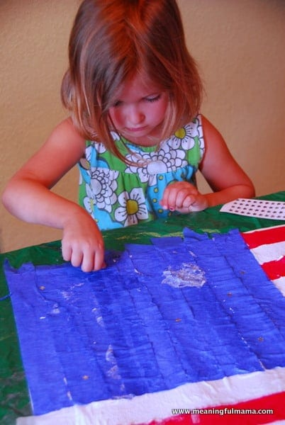 1-#american flag #craft-027