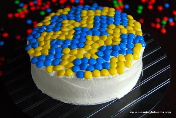 1-#chevron #M&M #cake-030
