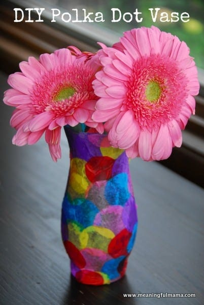 1-#polka dot vase #craft #kids-052