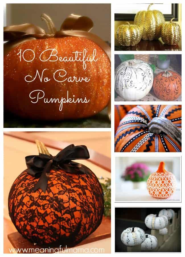 fall decorating ideas no carve pumpkins