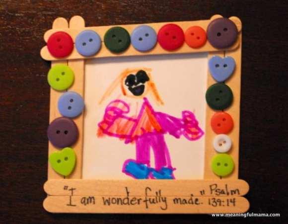 1-#popsicle stick frame #buttons #cubbies #bear hug 6-020