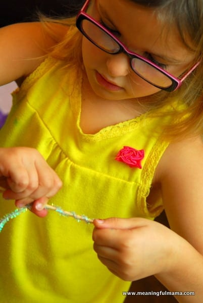 1-#snowflake craft #pipe cleaners #pom poms #kids-016