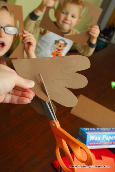 1-#thanksgiving turkey #craft #footprint #craft for kids-009