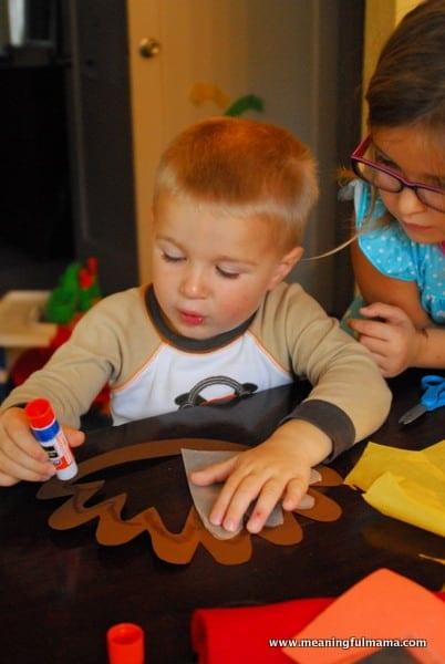 1-#thanksgiving turkey #craft #footprint #craft for kids-016