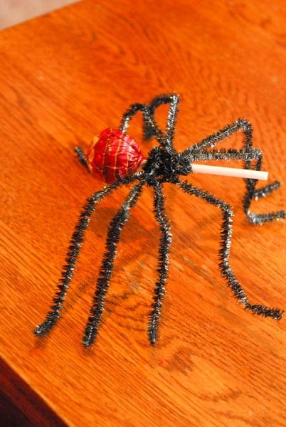 1-#spider lollipop #tutorial #superhero food #spiderman party-005
