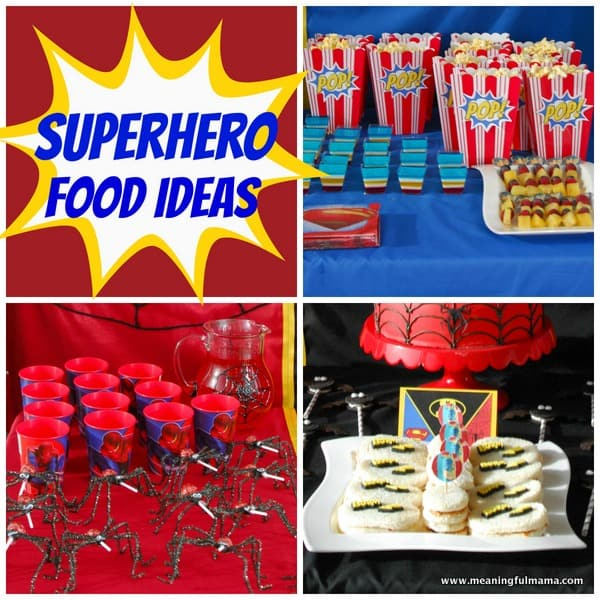 1-#superhero party #food ideas