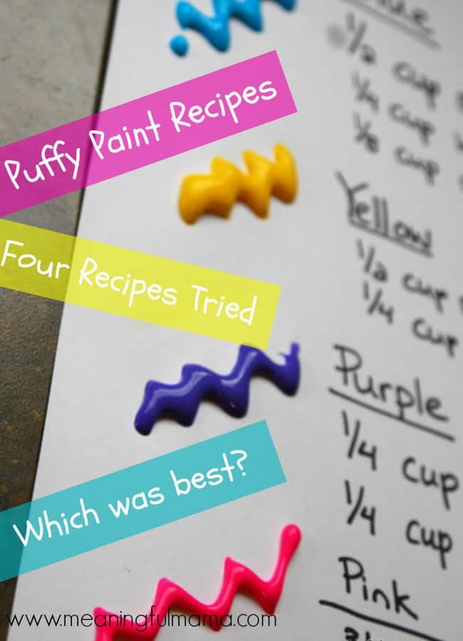 Best Puffy Paint Recipe