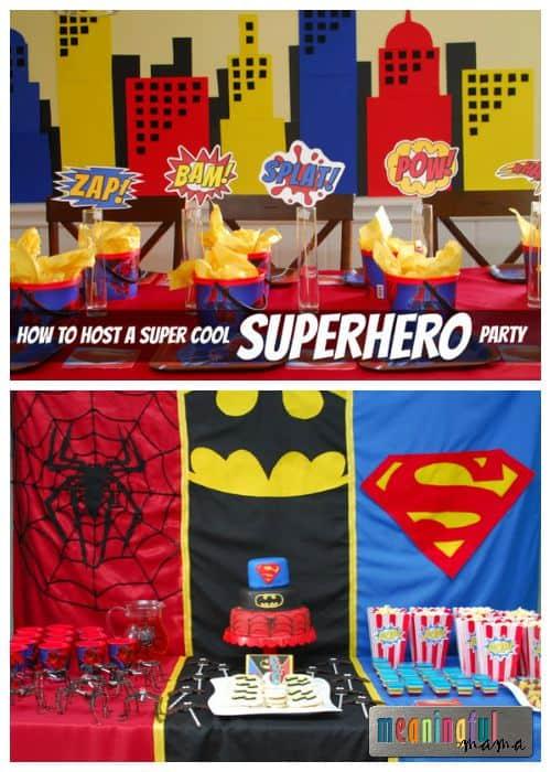Super Cool Superhero Party - Spiderman, Superman and Batman Ideas