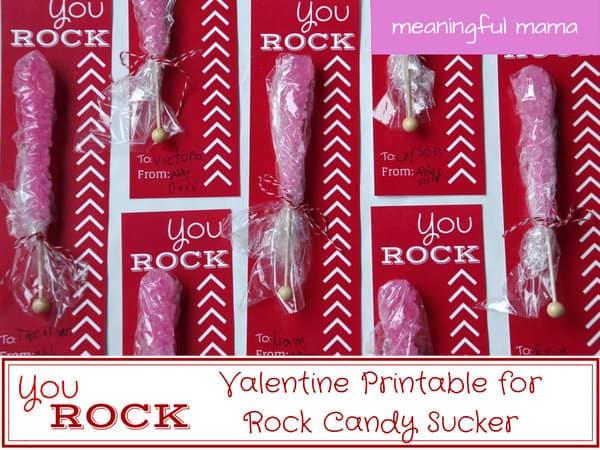 1-#valentine you rock free printable sucker