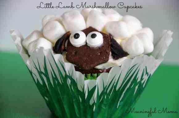 #lamb #sheep cupcake decorating marshmallows Feb 6, 2014 1-57 PM