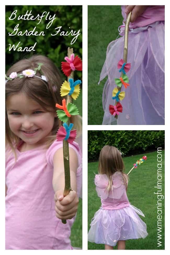 butterfly garden fairy wand