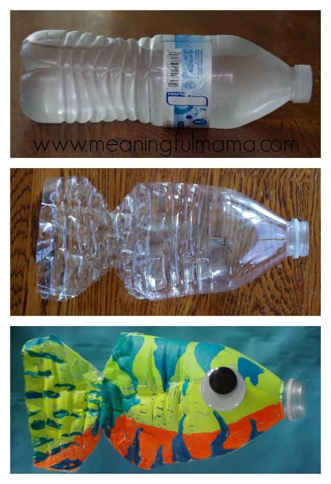 water bottle fish craft kids